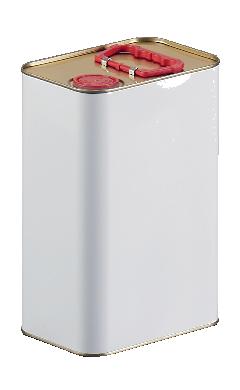 bidon cylindrique, emballage fer blanc