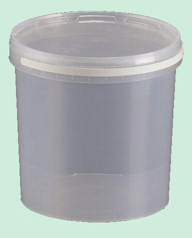 pot rond en plastique