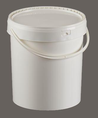 distributeur seau plastique, seau cylindrique